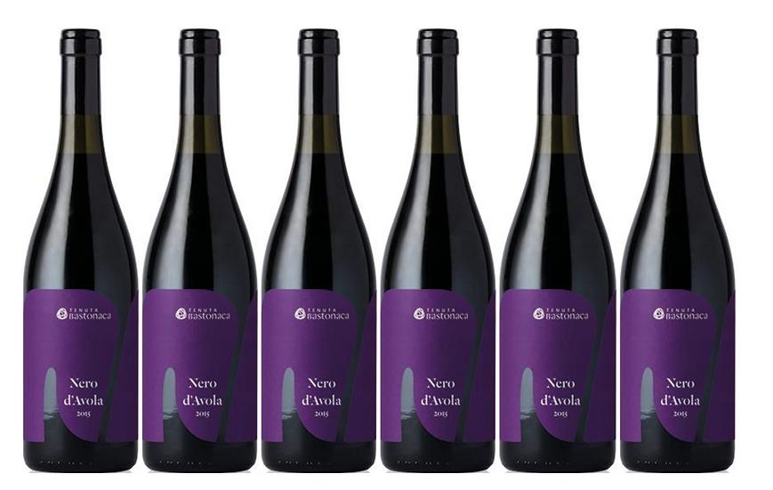 NERO D'AVOLA  2018 0.75L - 6 bottles - TENUTA BASTONACA -11.8€/bottle