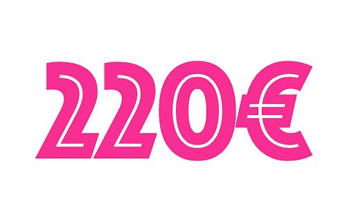 220€ VOUCHER