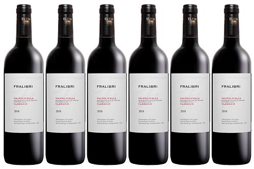 FRALIBRI VALPOLICELLA CLASSICO -  2018 0.75L - 6 bottles - Eleva -12.8€/bottle