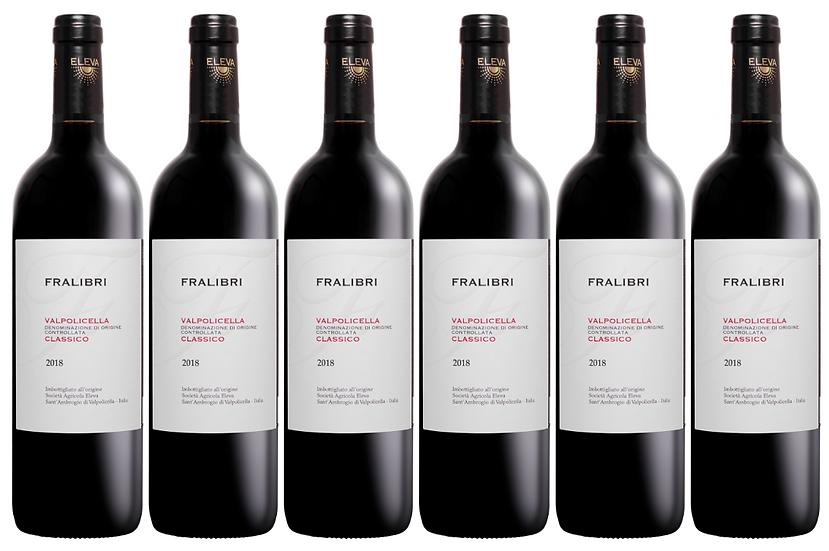 FRALIBRI VALPOLICELLA CLASSICO -  2018 0.75L - 6 bottles - Eleva -11,67€/bottle