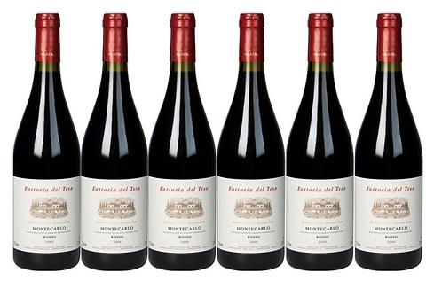 MONTECARLO ROSSO 2017 0.75L - 6 bottles - Del Teso - 10.8/bottle