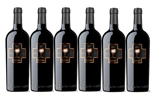 NAUNA NEGROAMARO- PRIMITIVO 2017 0.75L - 6 bottle - Schola -18,7€/bottle