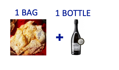 1 bag of handmade Chiacchiere + 1 bottle of PROSECCO DOCG BRUT