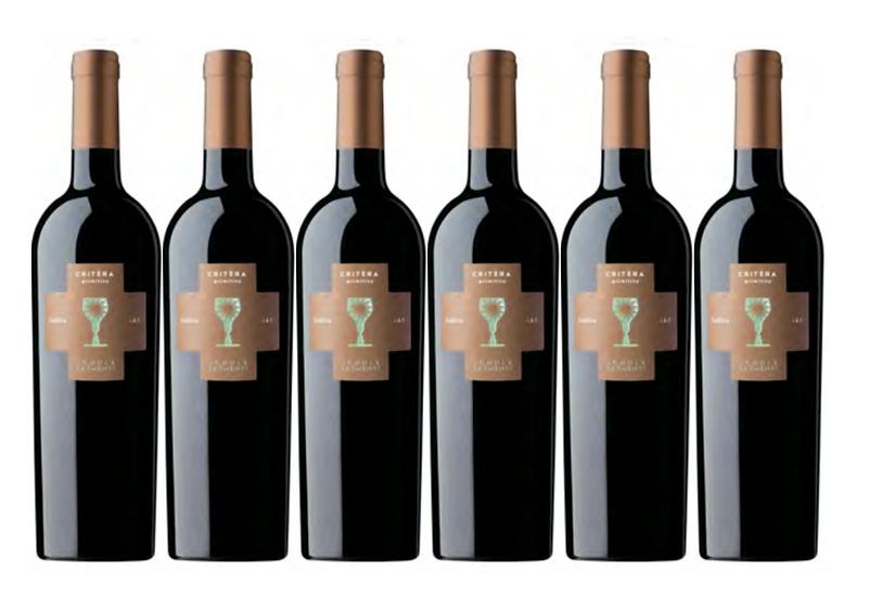 CRITERA PRIMITIVO 2018 0.75L - 6 bottles - Schola Sarmenti - 9,76€/bottle