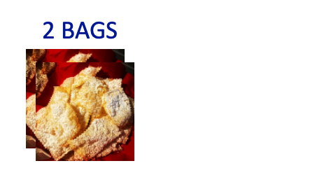 2 bags of handmade Chiacchiere