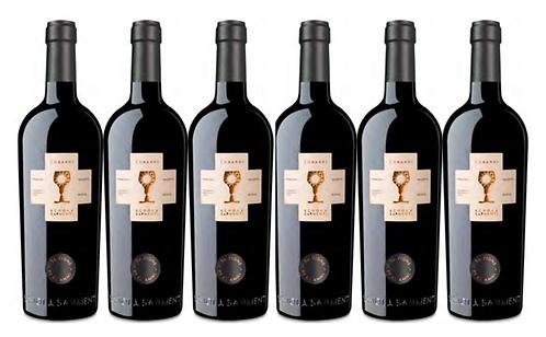 CUBARDI PRIMITIVO 2016 0.75L - 6 bottles - Schola Sarmenti -16.7€/bottle