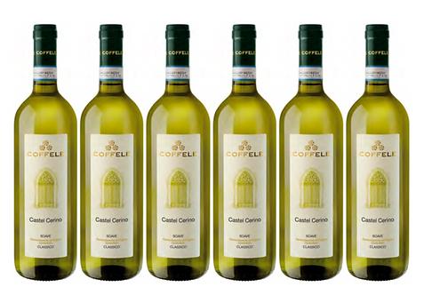 CASTEL CERINO SOAVE -  2018 0.75L - 6 bottles - Coffele - 10.8€/bottle