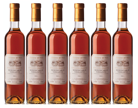 VINSANTO MONTECARLO DOC 2002 0.50L - 6 bottle - Del Teso - 33.5€/bottle
