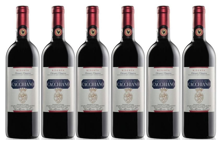 CHIANTI CLASSICO RISERVA 2015 0.75L - 1 bottle - Cacchiano - 23,33€/bottle