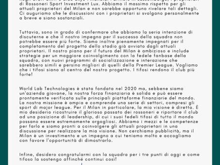 COMUNICATO STAMPA: 7 Marzo 2021