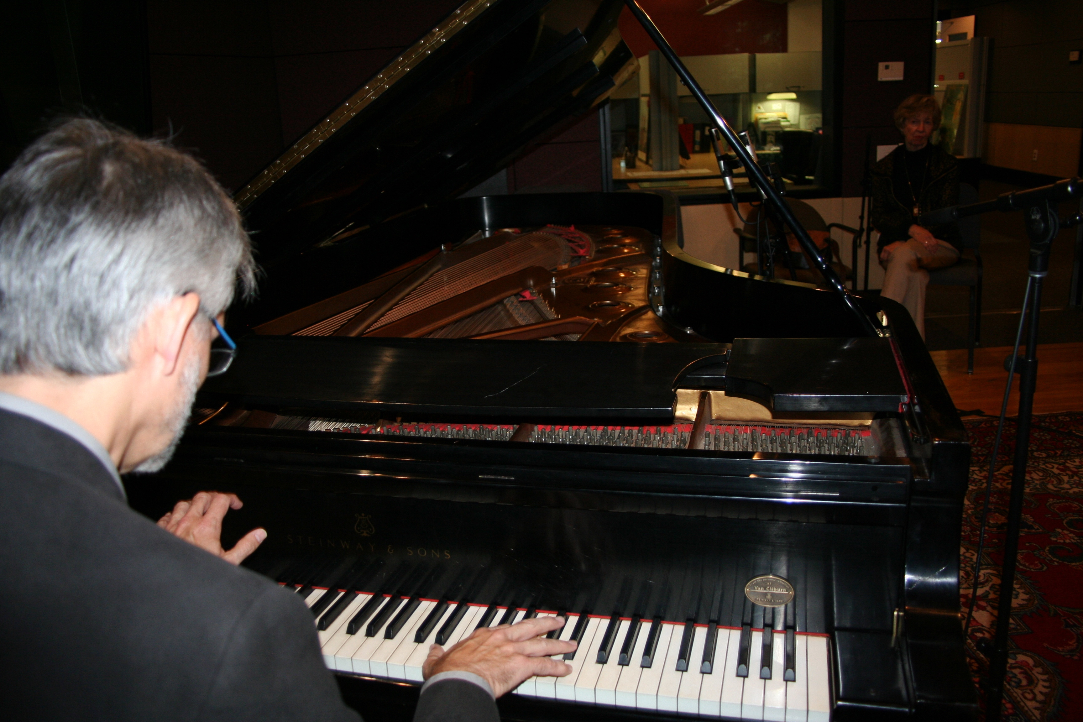 Recording on Van Cliburn's Piano