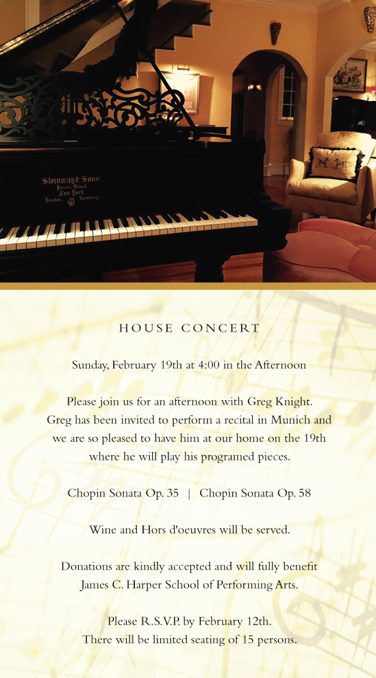 House Concert, Lenoir, NC