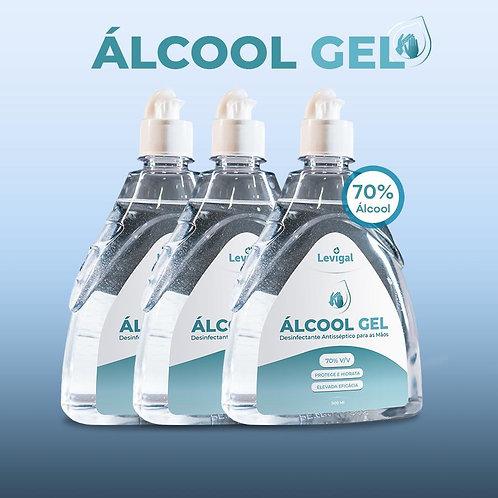 Álcool Gel Ati-séptico 70% - 500mL - Pack 5 (IVA Incluído)
