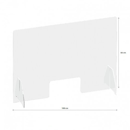 Proteção de Balcão c/ Postigo 100x66cm (IVA Incluído)