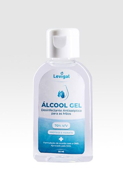 Álcool Gel Ati-séptico 70% - 50mL - Pack 25 (IVA Incluído)