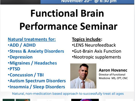 Optimize Brain Function: Free Seminar