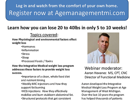 Integrative Weight Loss Webinar This Week
