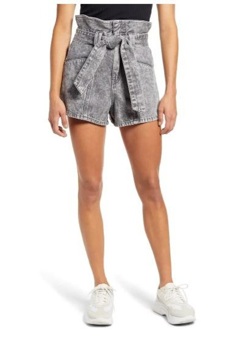Blank NYC Fearless High Rise Tie Shorts