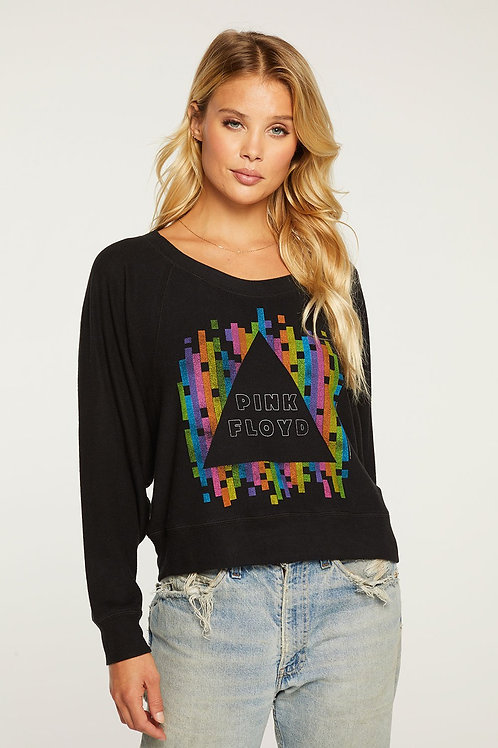 Chaser Pink Floyd Cropped Long Sleeve