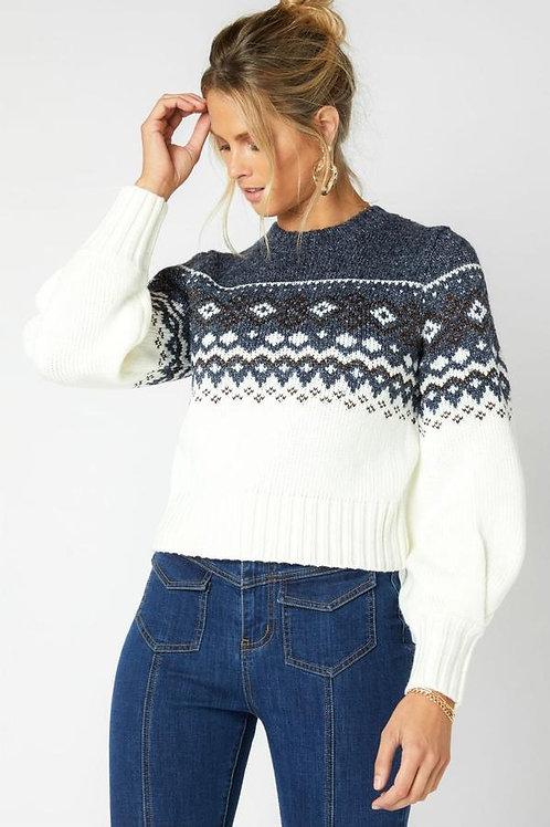 MinkPink Solstice Fairisle Sweater