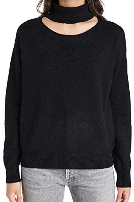 Line & Dot Palmer Cut Out Turtleneck Sweater