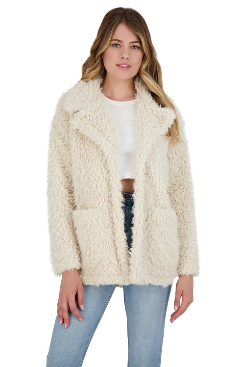 BB Dakota Warming Signs Faux Fur Coat