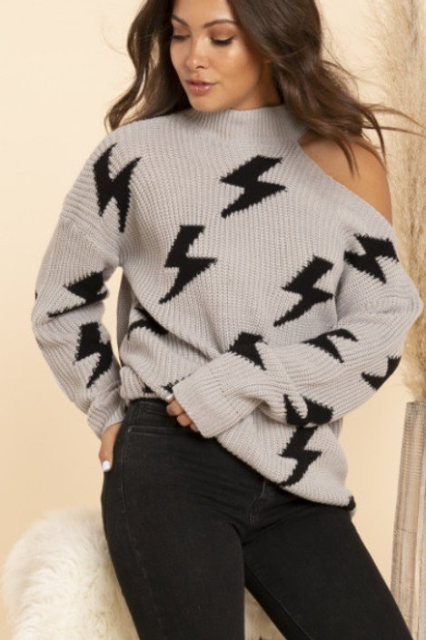 Light It Up Cutout Sweater