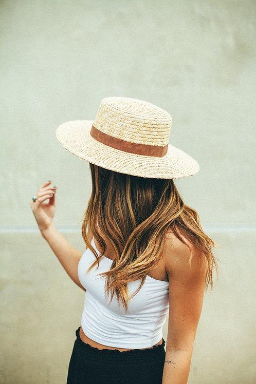 Wyeth Aubrey Straw Boater Hat