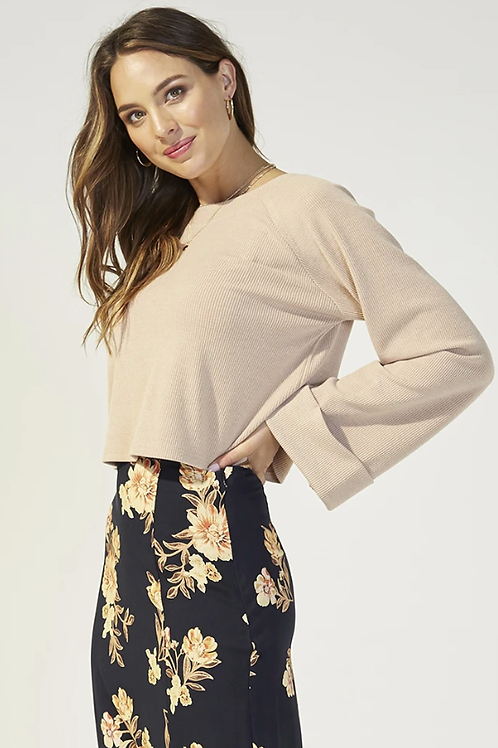 Mink Pink Erica Waffle Top