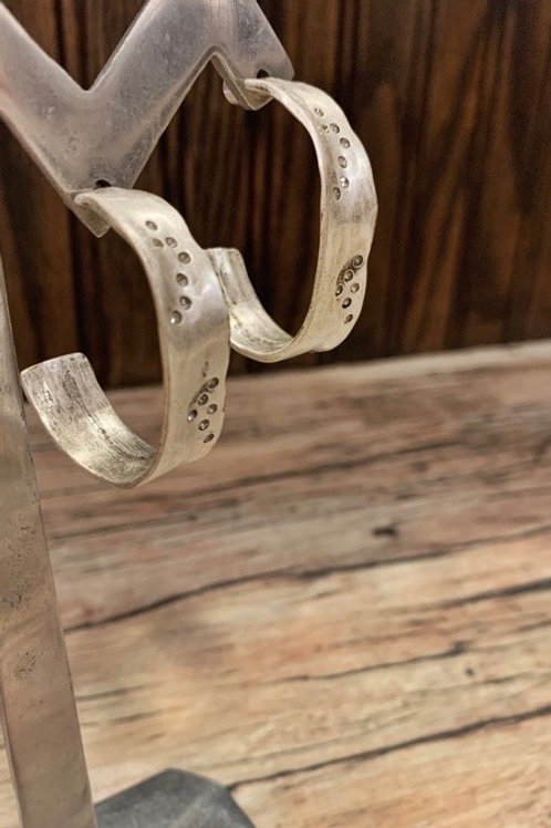 Tat2 Vintage Silver Impression Hoops