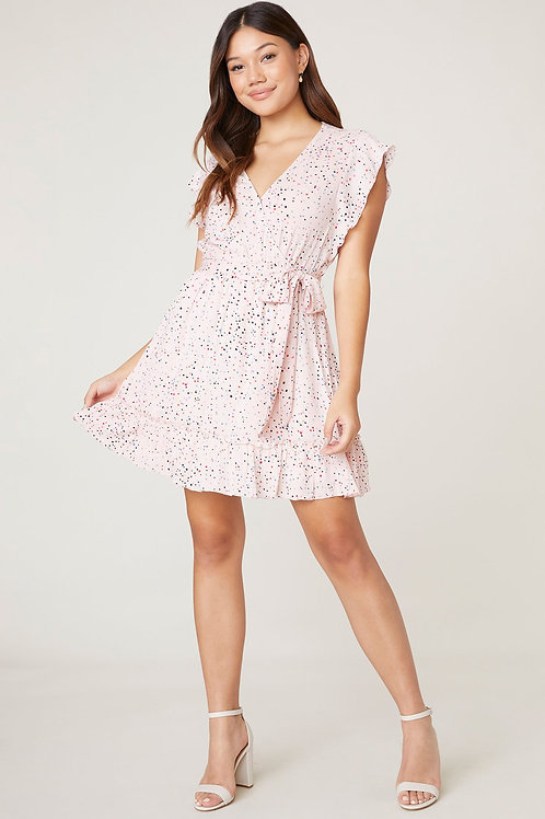 Jack by BB Dakota Funfetti Wrap Dress