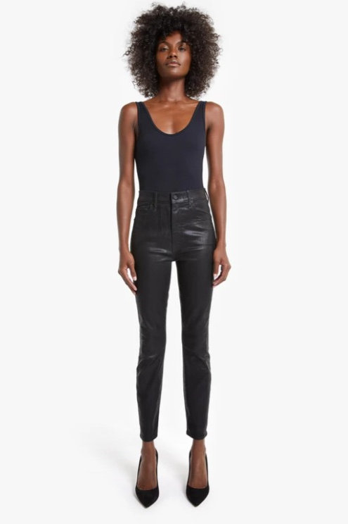 Mother Denim Swooner Ankle-Wet Pant