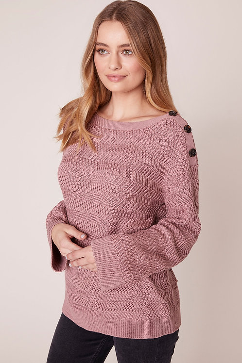 Jack By BB Dakota Pushing Your Buttons Sweater