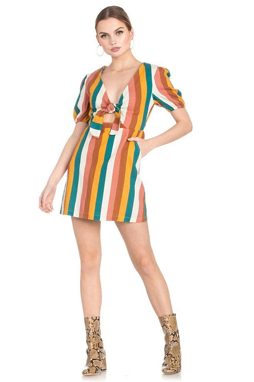 Stripe Tease Mutlicolor Dress
