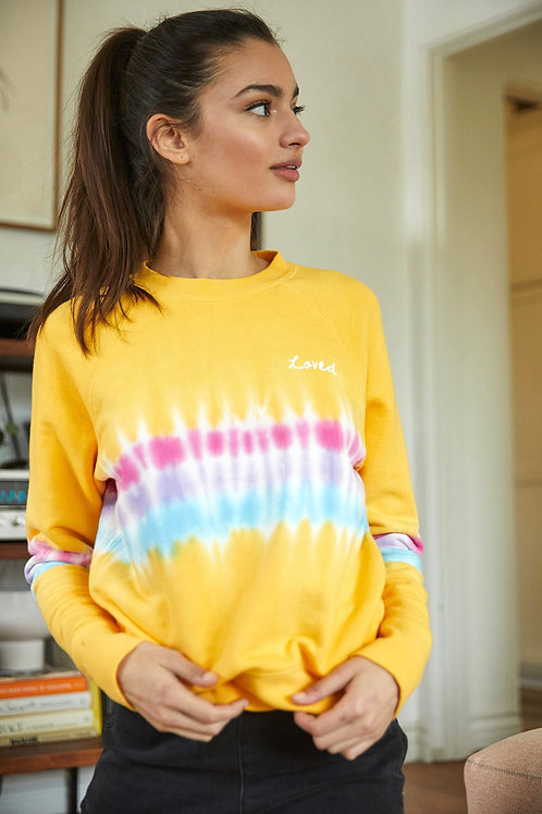 Spiritual Gangster Loved Tie Dye Sweatshirt