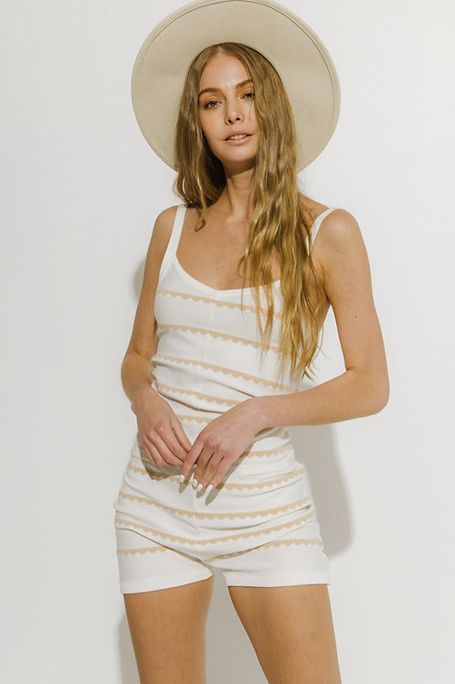 Anywhere With You Stripe Romper