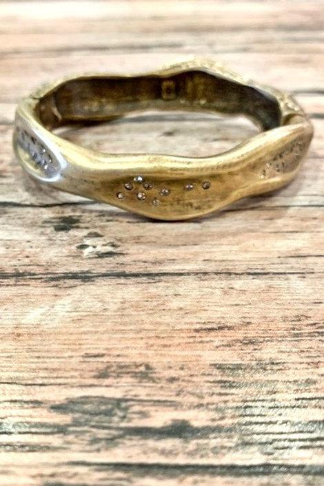 Tat2 Gold Impressions Bangle
