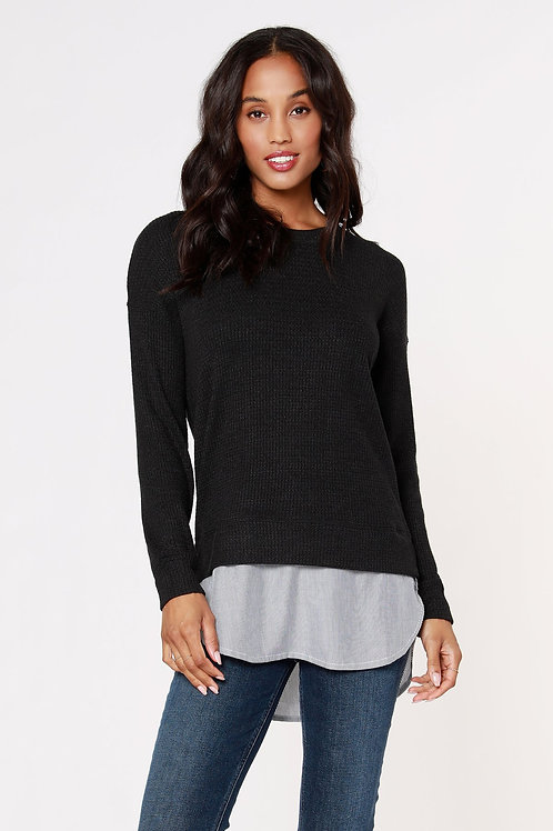 Bobi Mixed Crewneck top