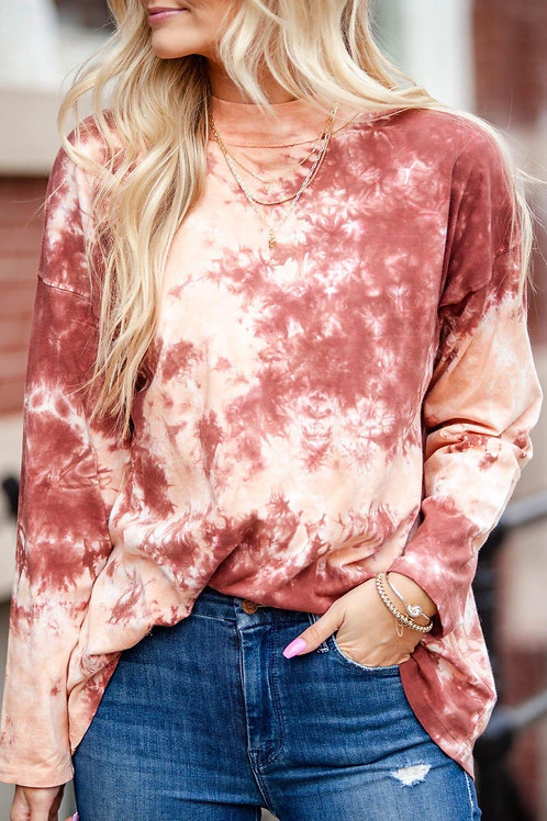 Free People Be Free Tie Dye Tunic