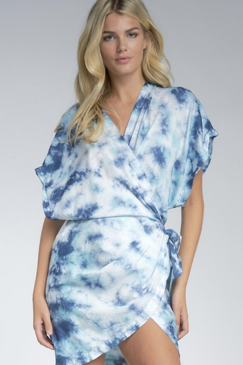 What You Wanted Tie Dye Wrap Dress