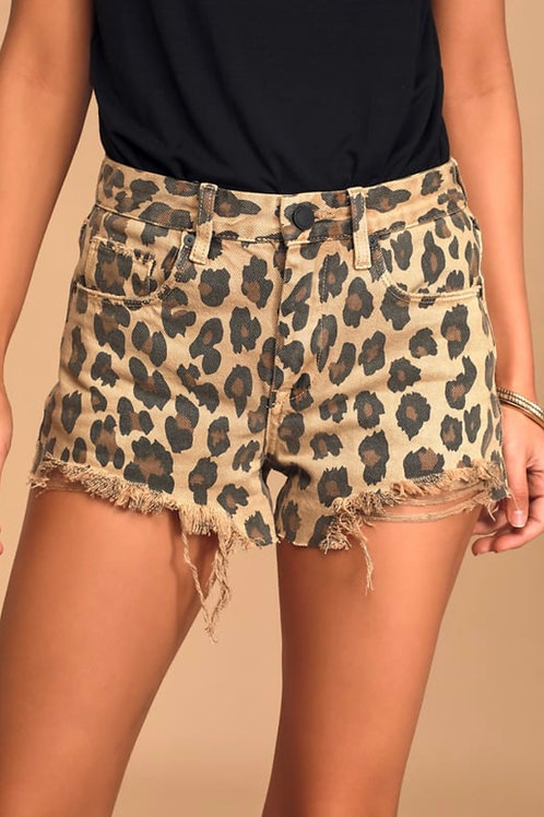 Blank NYC The Barrow Short in Leopard