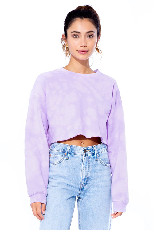Neema Kary Lilac Tie Dye Cropped Pullover