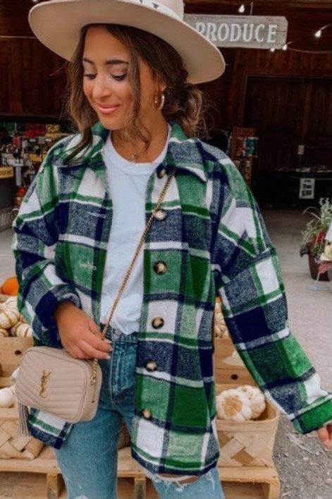 Jeremiah Green Flannel Buttondown