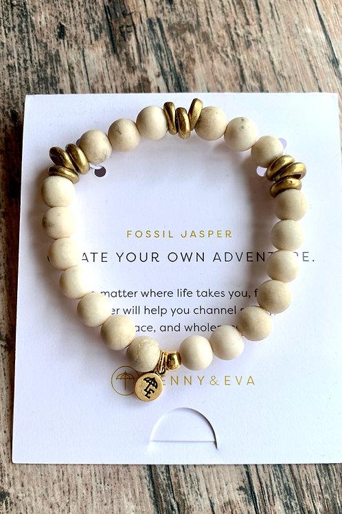 Create Your Own Adventure Fossil Jasper Bracelet