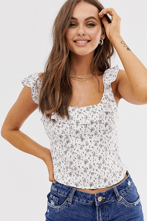 Free People Stay With You Ruffle Tank