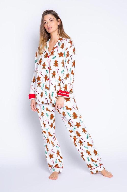 Gingerbread Flannel PJ Set
