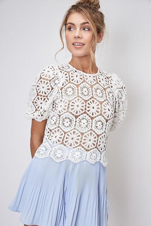 Crochet Puff Sleeve Top