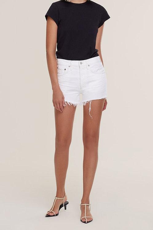 Agolde Parker Platinum Cut Off Shorts
