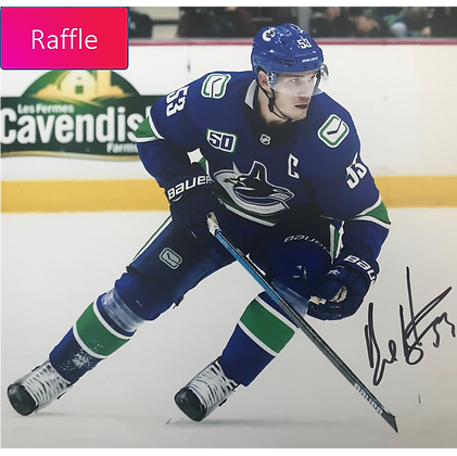 Raffle Ticket - Vancouver Canucks – Signed Bo Horvat Photo