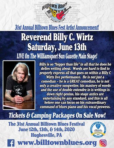 Reverend Billy C Wirtz_ArtistAnnouncemen